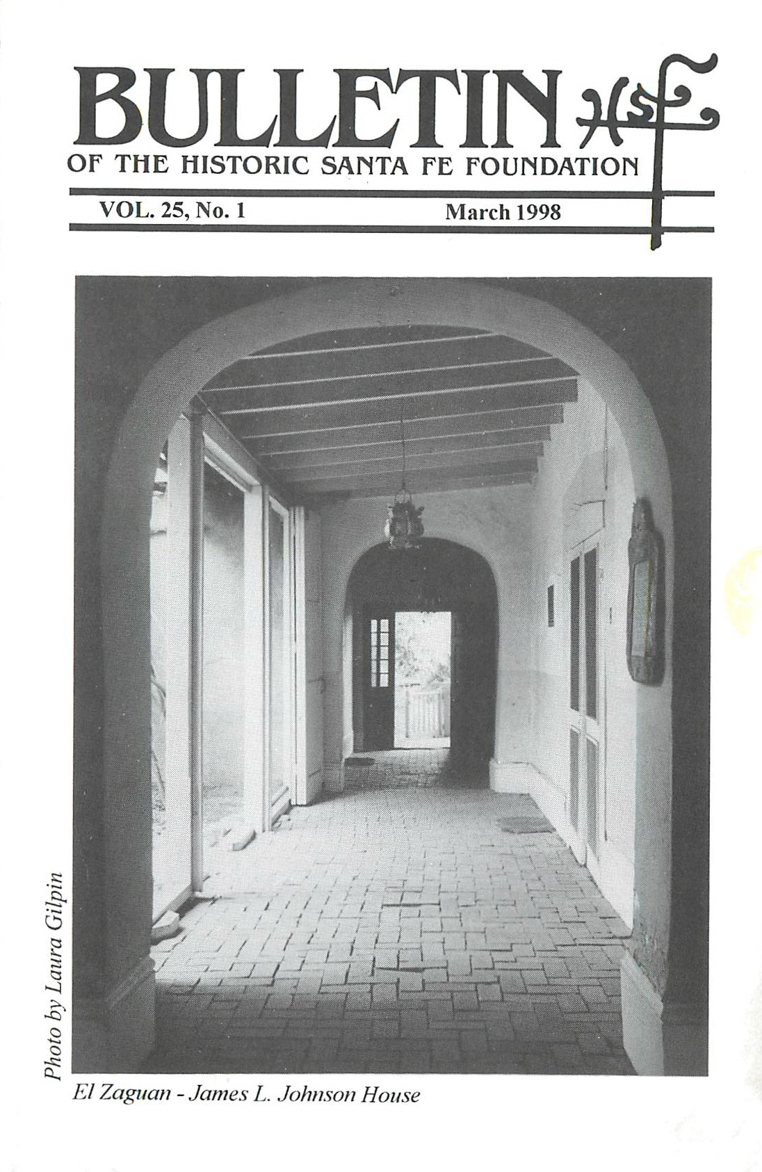 1998 HSFF Bulletin Vol.25 No.1 Cover