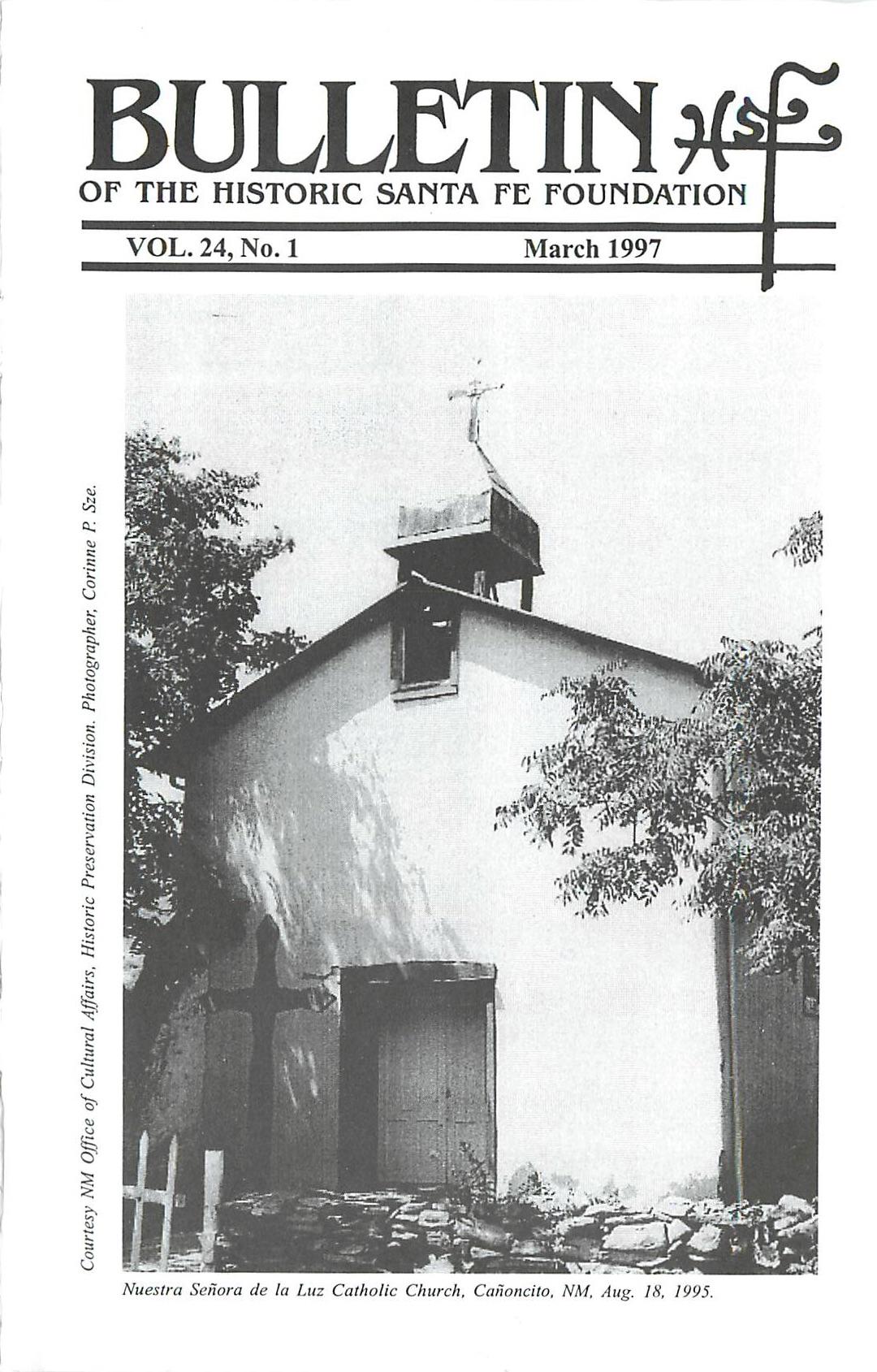 1997 HSFF Bulletin Vol.24 No.1 Cover