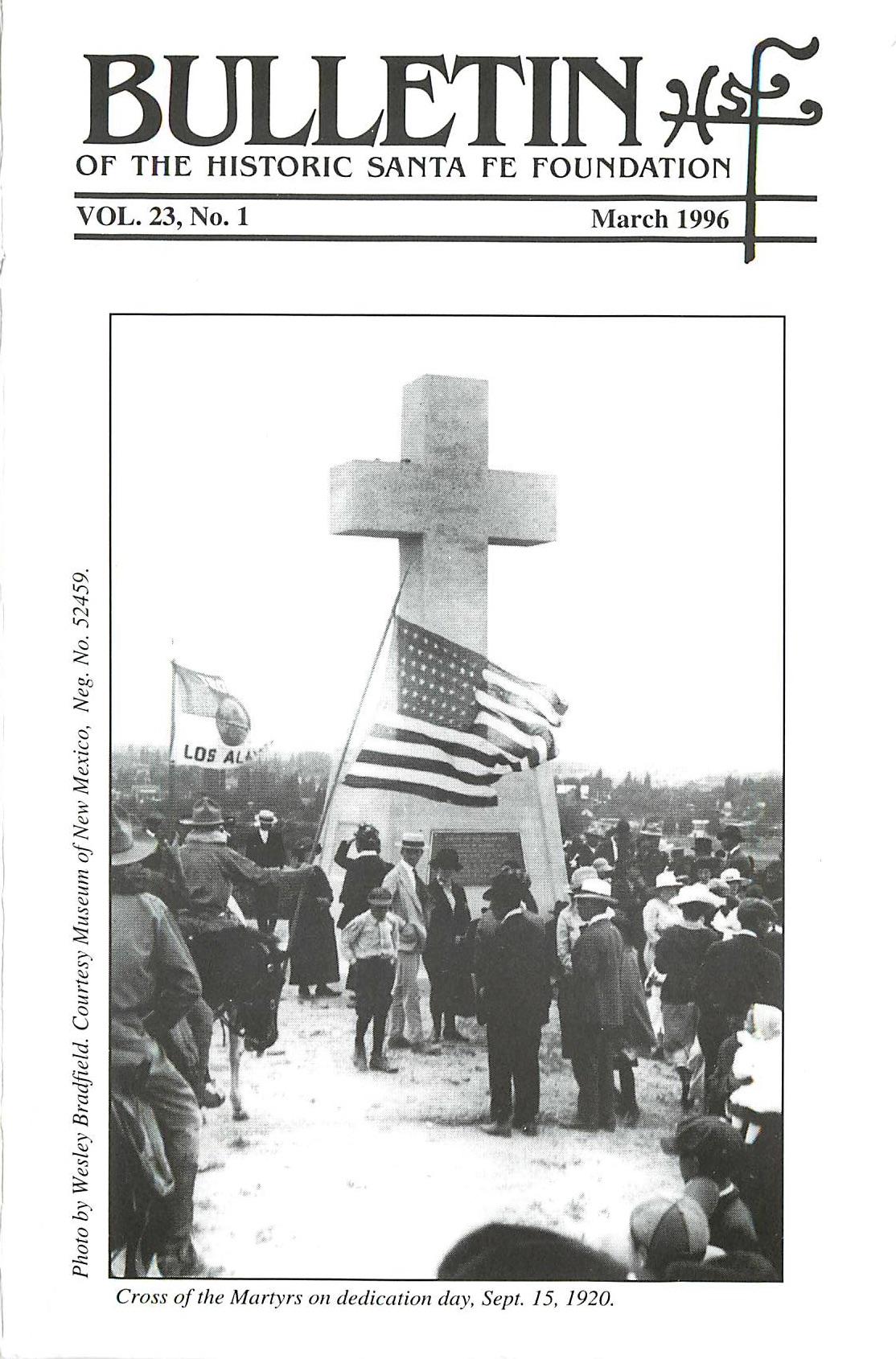 1996 HSFF Bulletin Vol.23 No.1 Cover