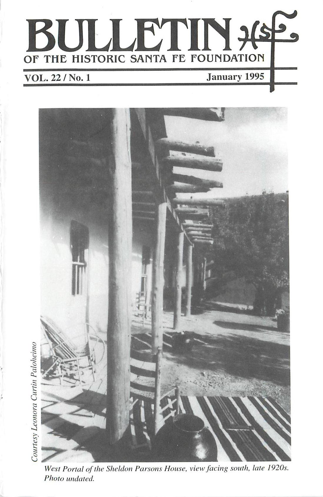 1995 HSFF Bulletin Vol.22 No.1 Cover