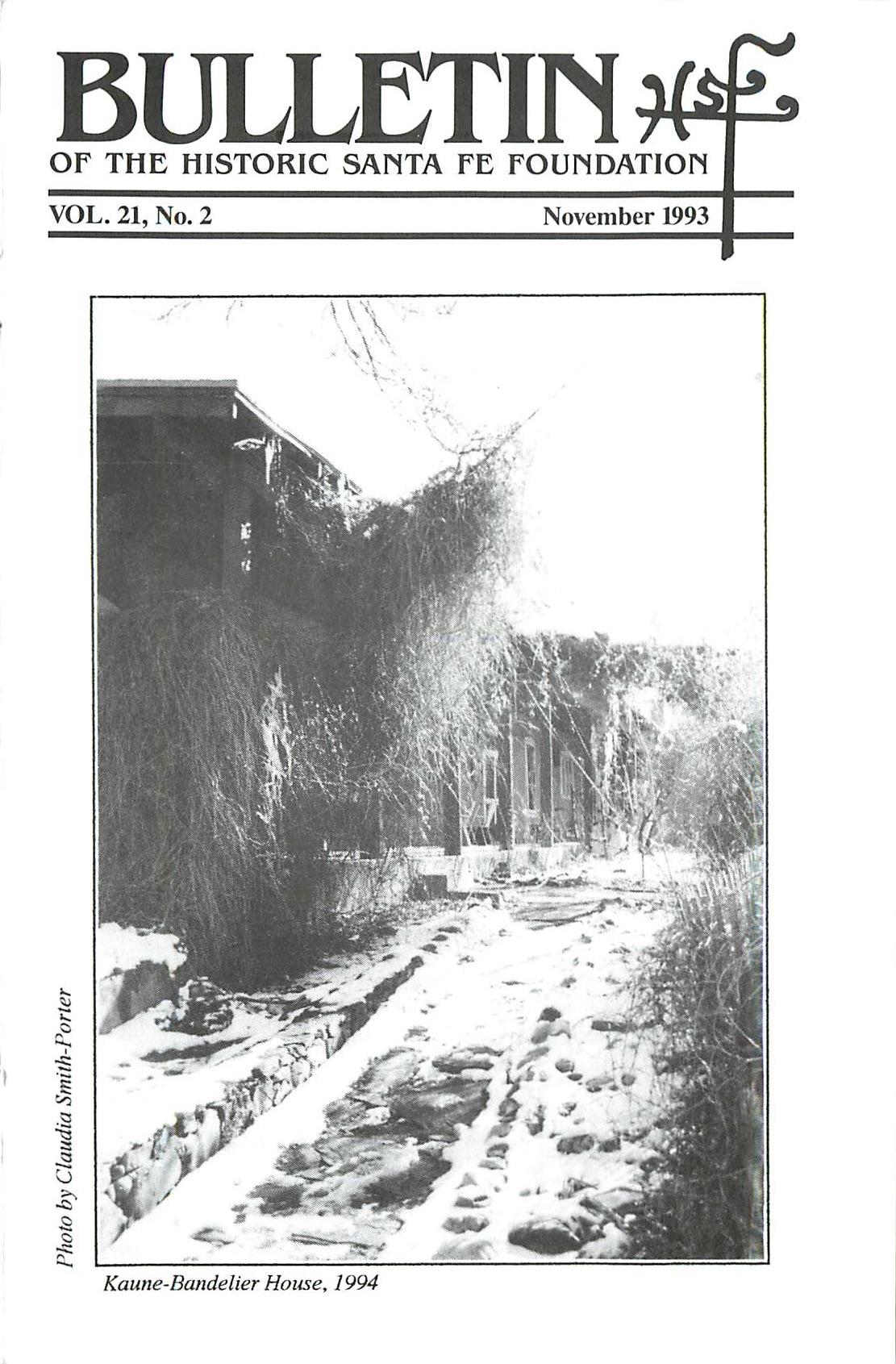 1993 HSFF Bulletin Vol.21 No.2 Cover