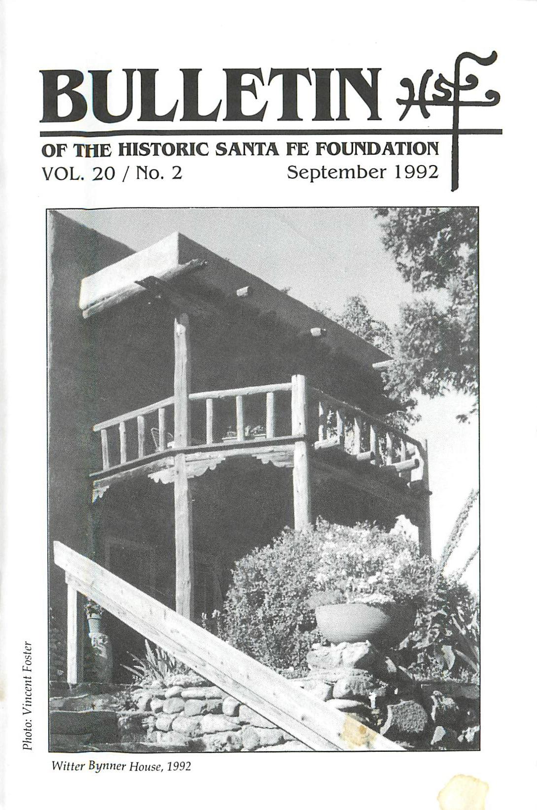 1992 HSFF Bulletin Vol.20 No.2 Cover