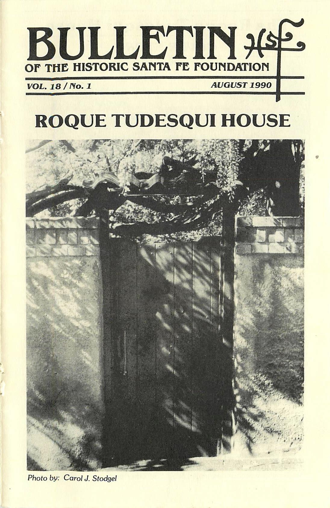1990 HSFF Bulletin Vol.18 No.1 Cover