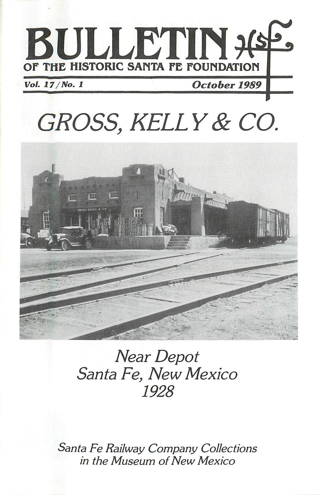 1989 HSFF Bulletin Vol.17 No.1 Cover