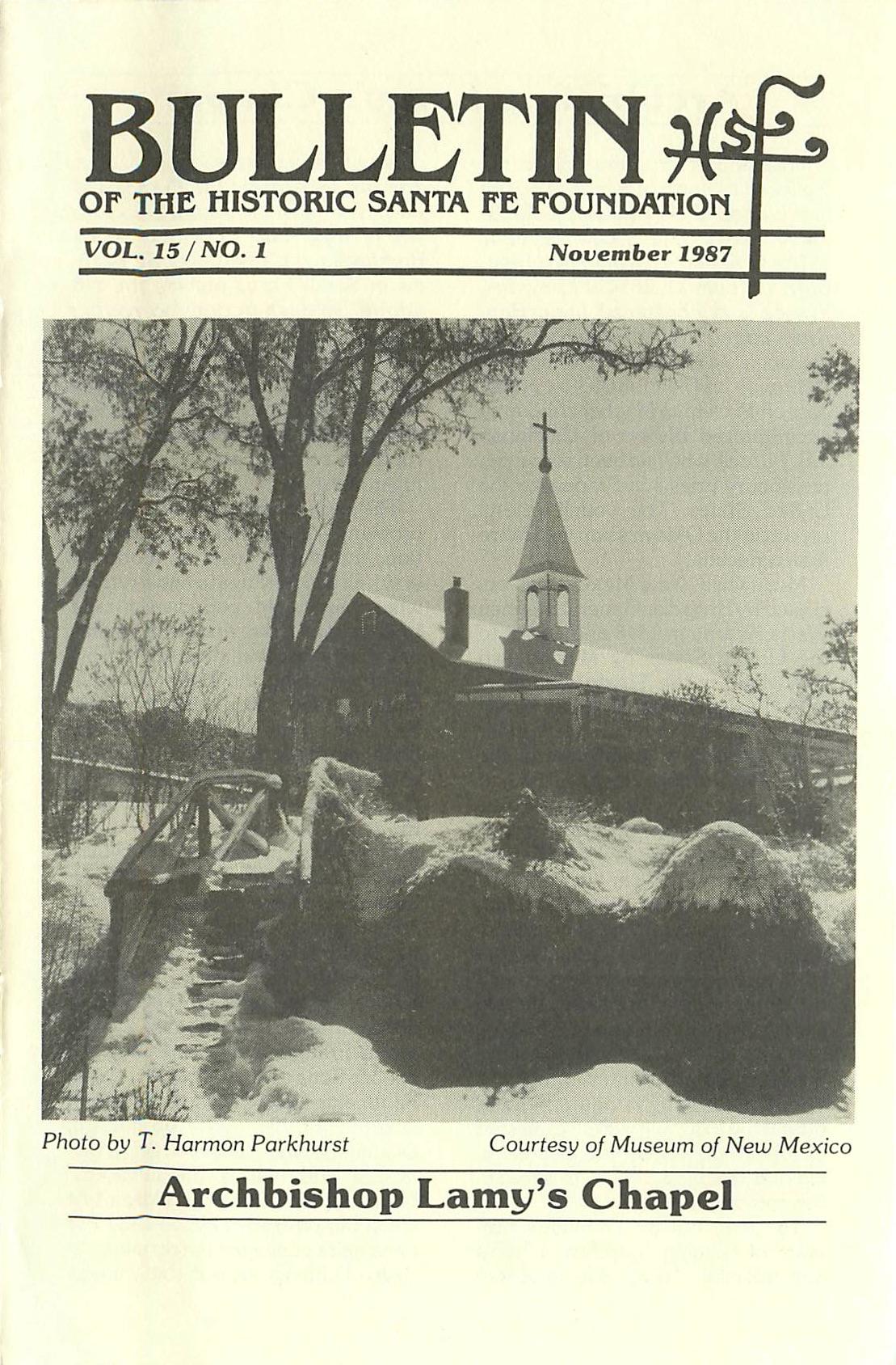 1987 HSFF Bulletin Vol.15 No.1 Cover