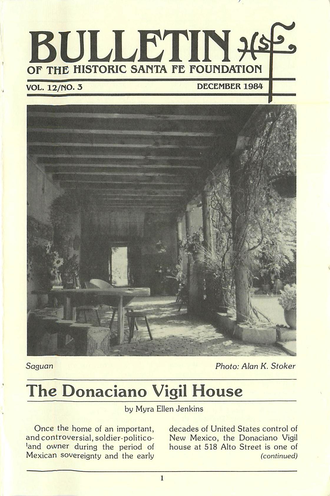 1984 HSFF Bulletin Vol.12 No.3 Cover
