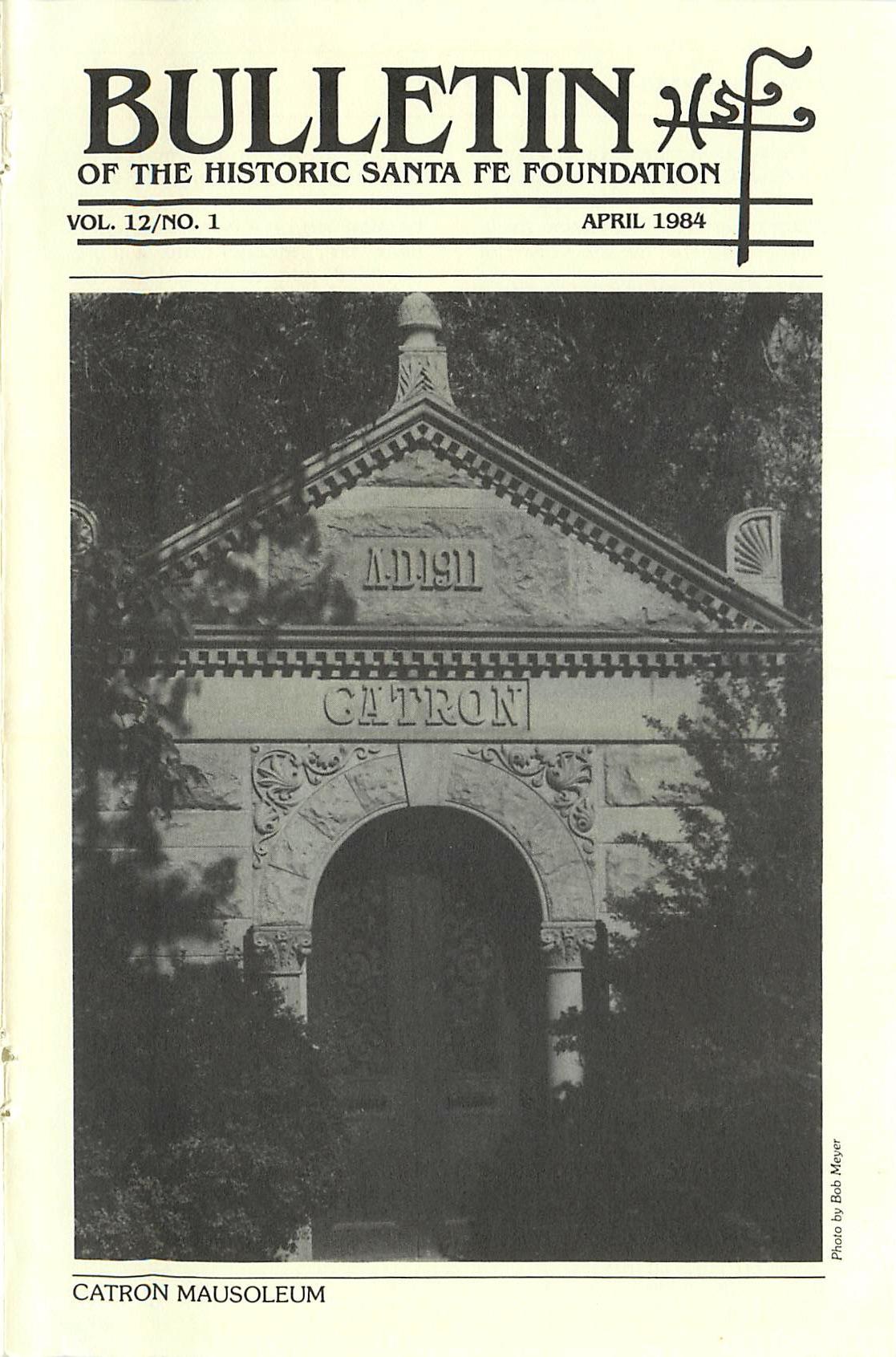 1984 HSFF Bulletin Vol.12 No.1 Cover
