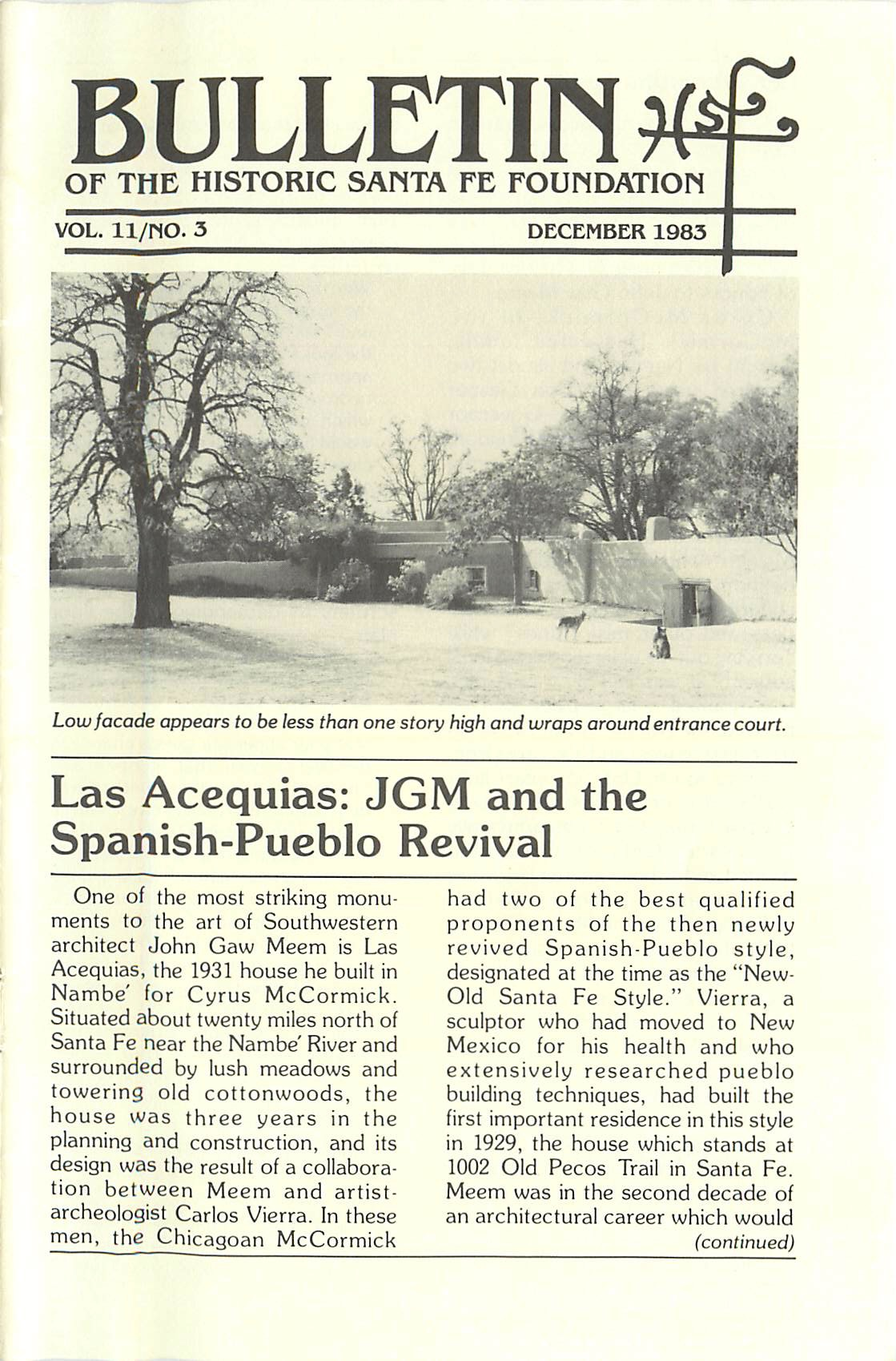 1983 HSFF Bulletin Vol.11 No.3 Cover