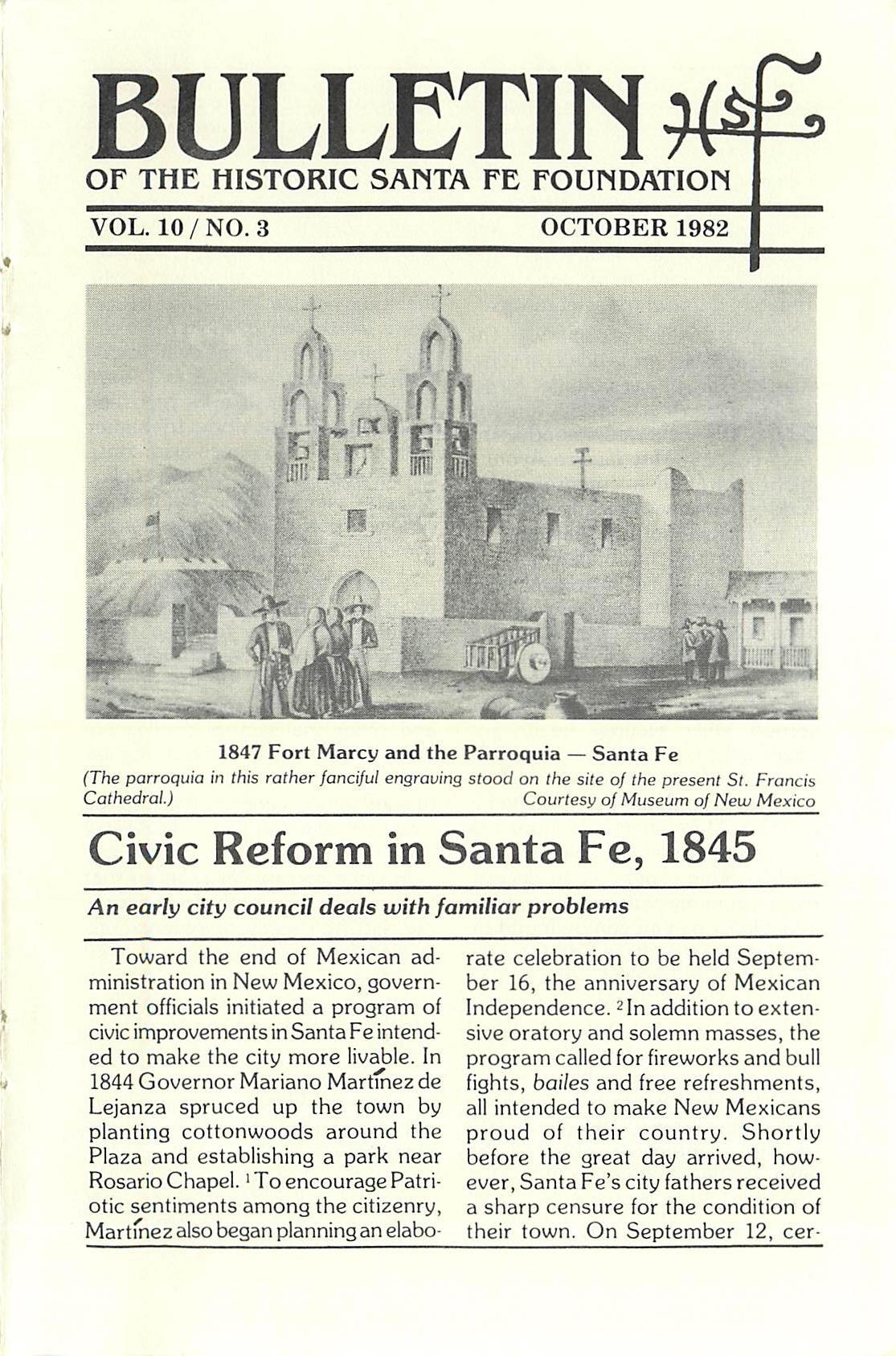 1982 HSFF Bulletin Vol.10 No.3 Cover