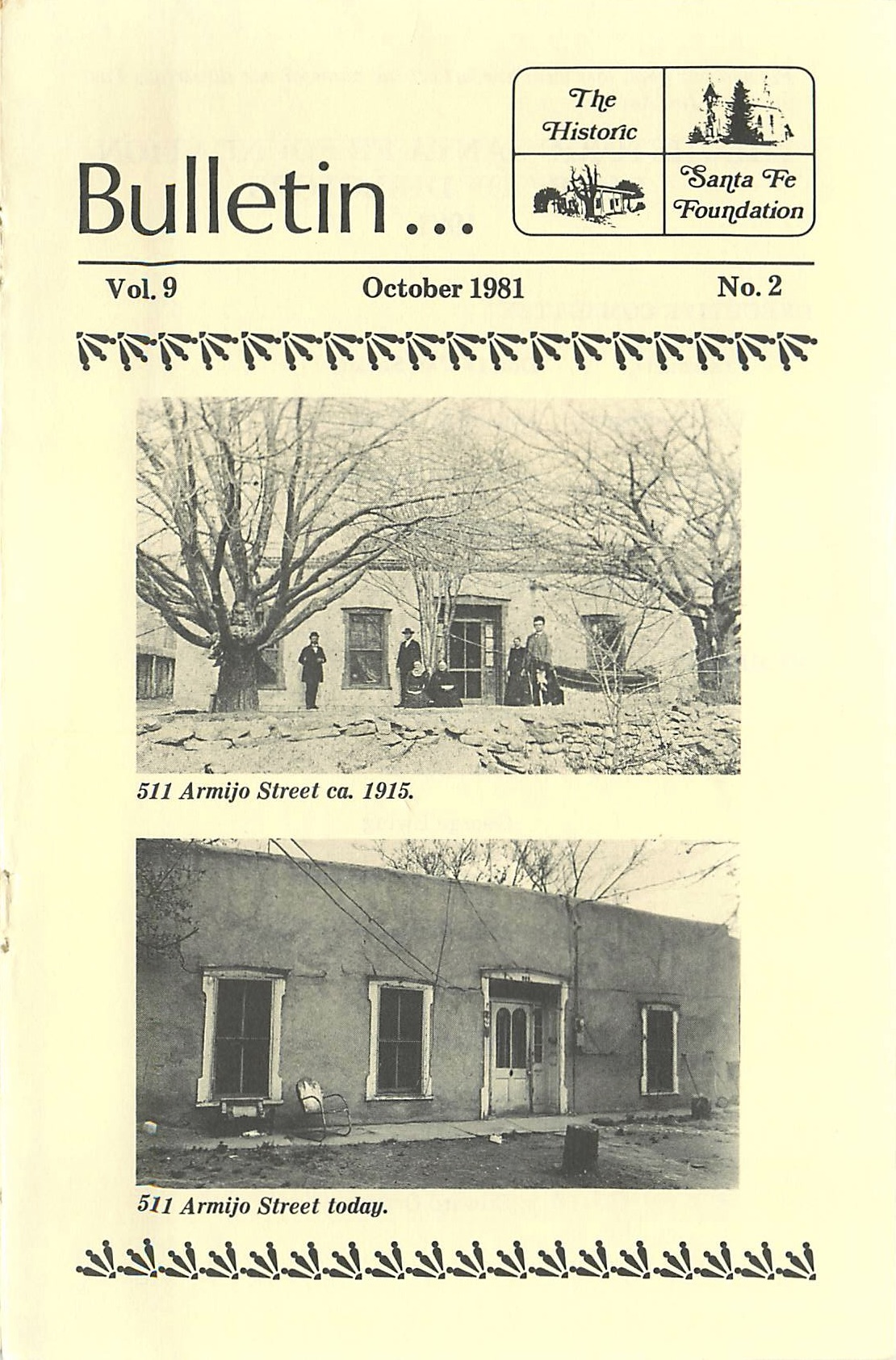 1981 HSFF Bulletin Vol.9 No.2 Cover