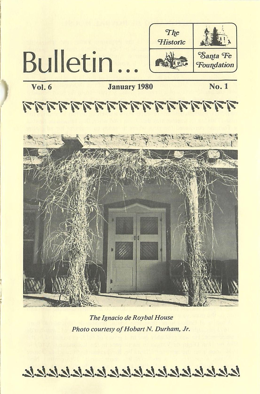 1980 HSFF Bulletin Vol.6 No.1 Cover