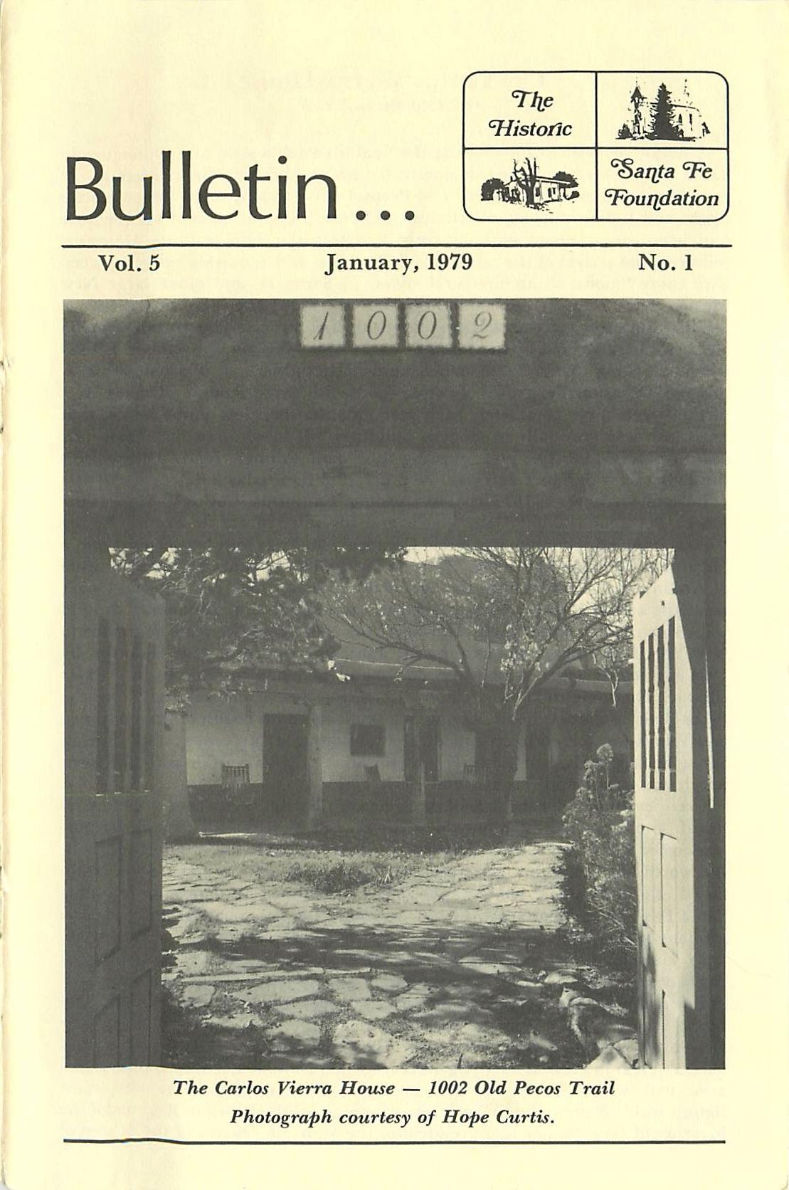 1979 HSFF Bulletin Vol.5 No.1 Cover