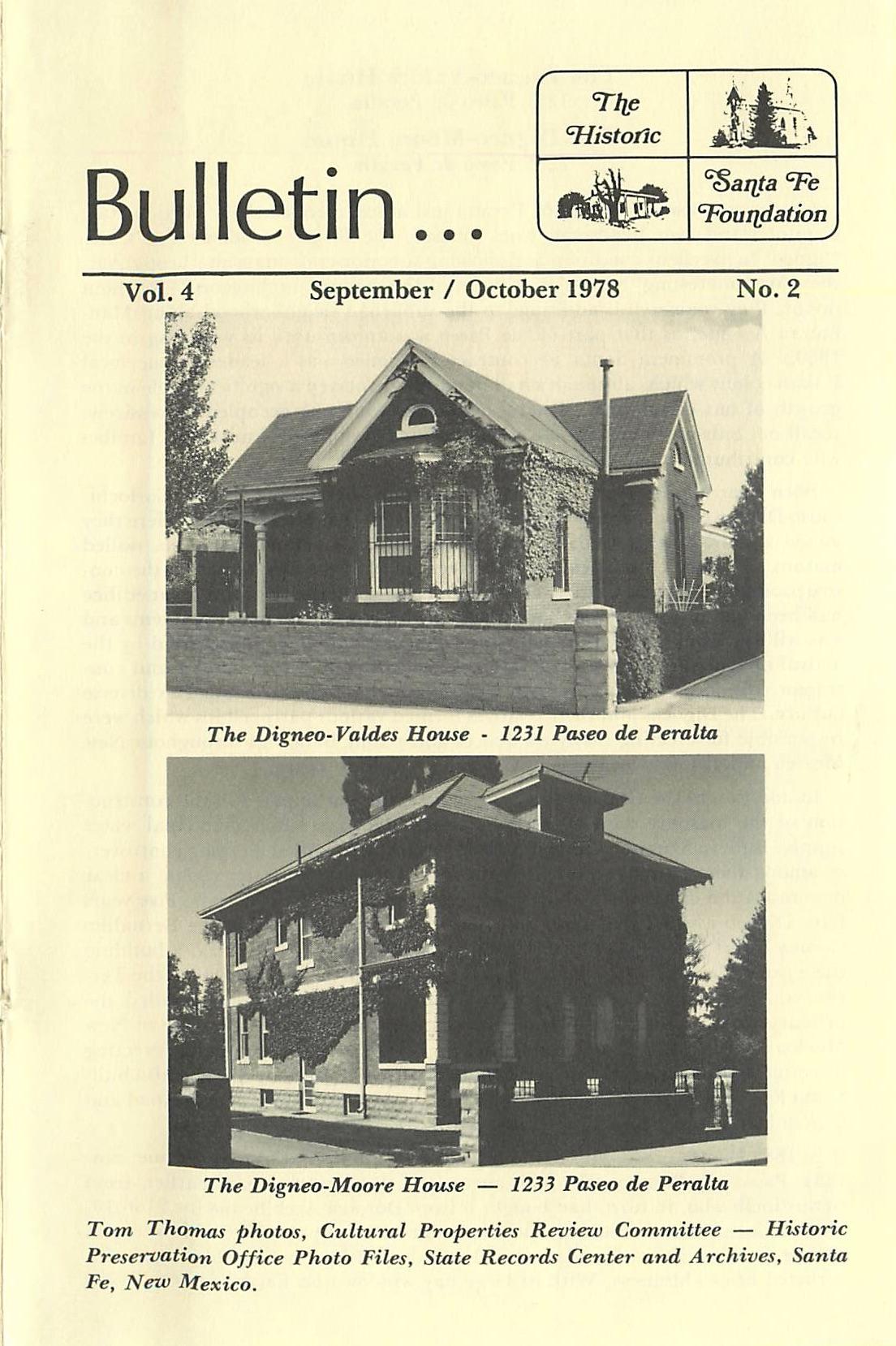 1978 HSFF Bulletin Vol.4 No.2 Cover