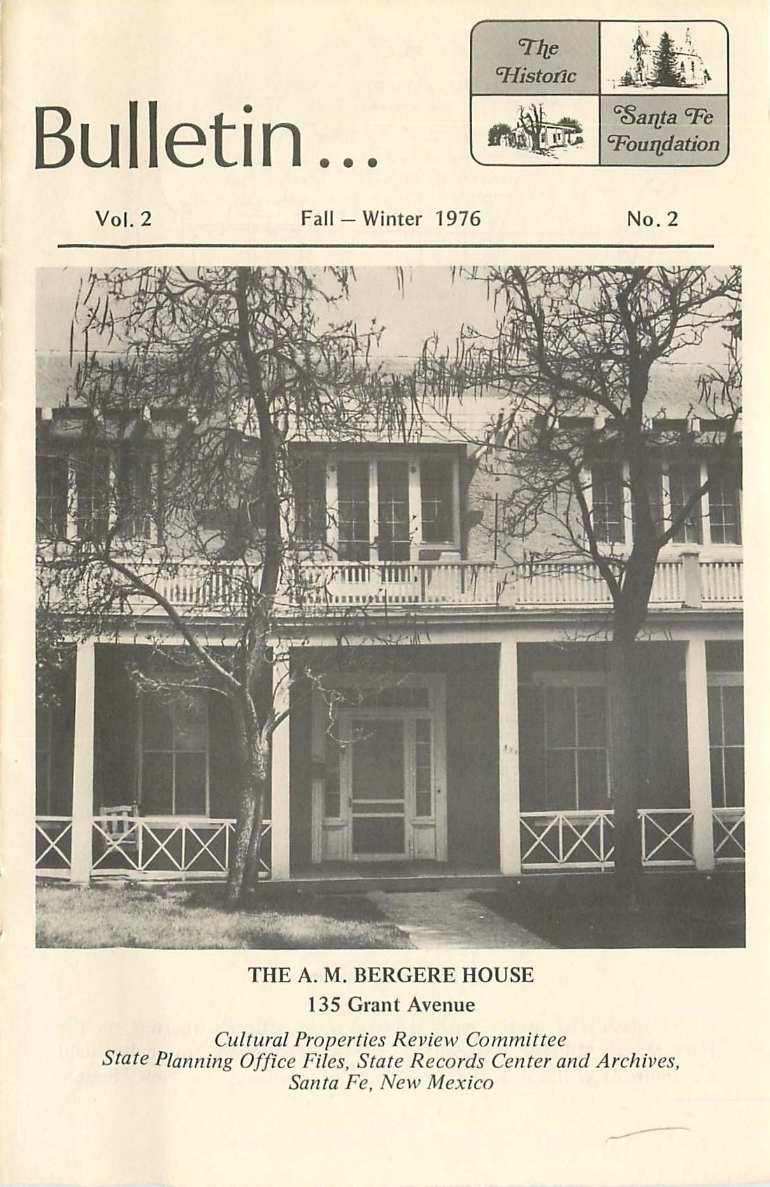 1976 HSFF Bulletin Vol.2 No.2 Cover
