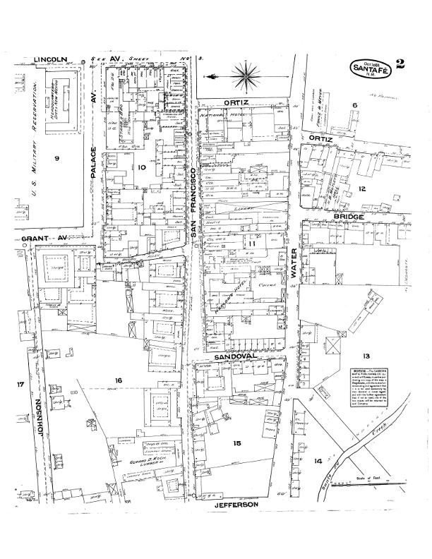 1883 Sanborn Maps of Santa Fe.