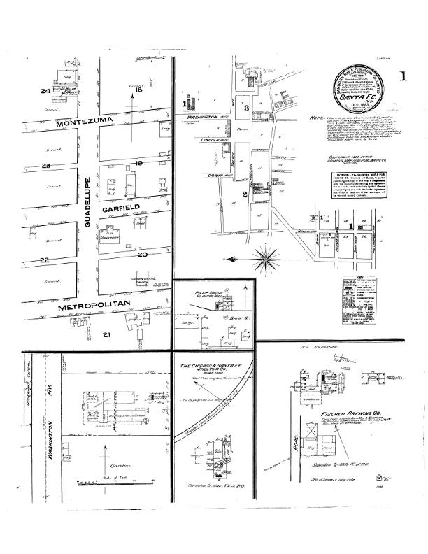 1883 Sanborn Maps of Santa Fe