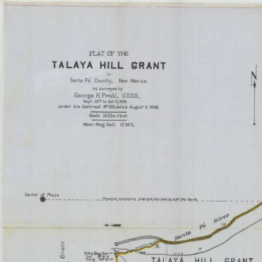 1898 Plat of the Talya Hill Grant