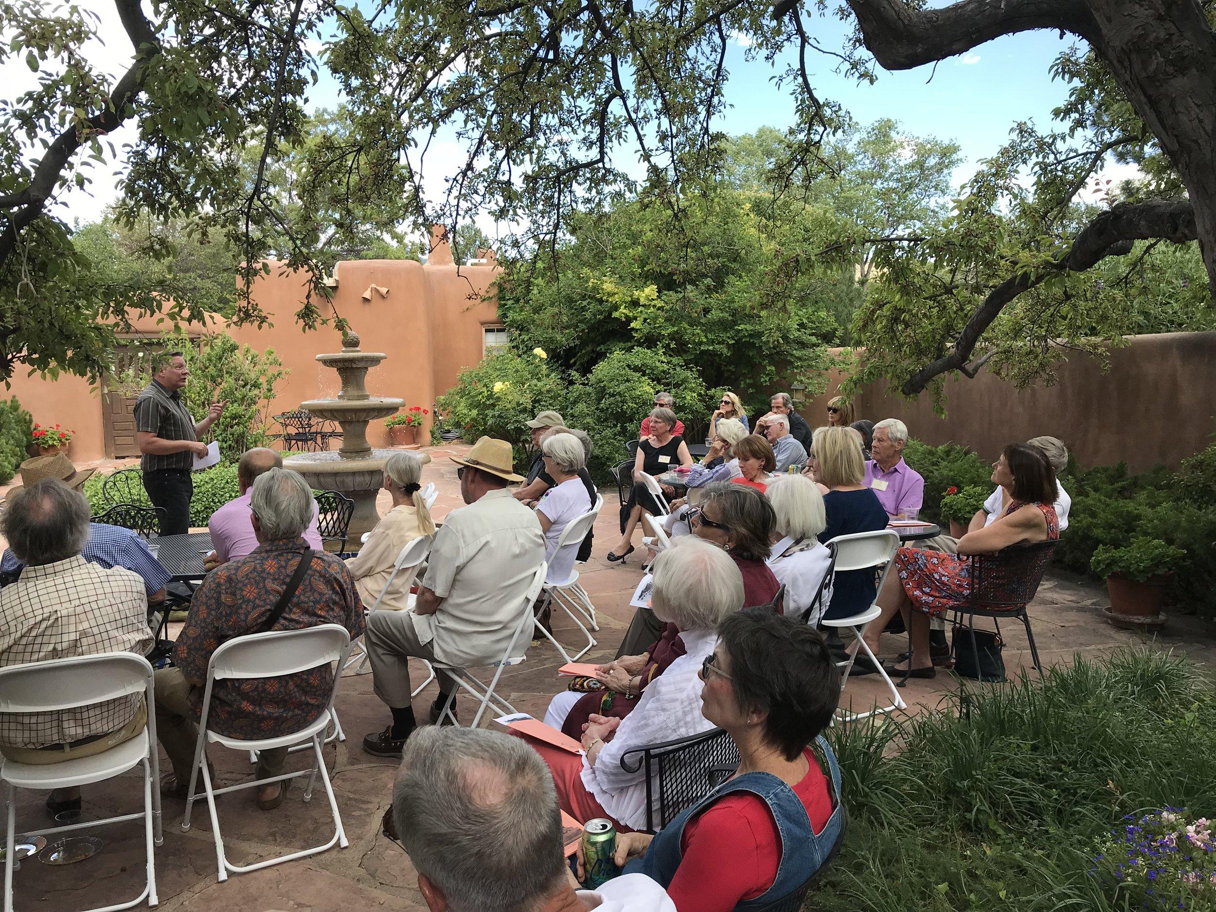 David Rasch speaking at the Carlos Vierra House, July 2018