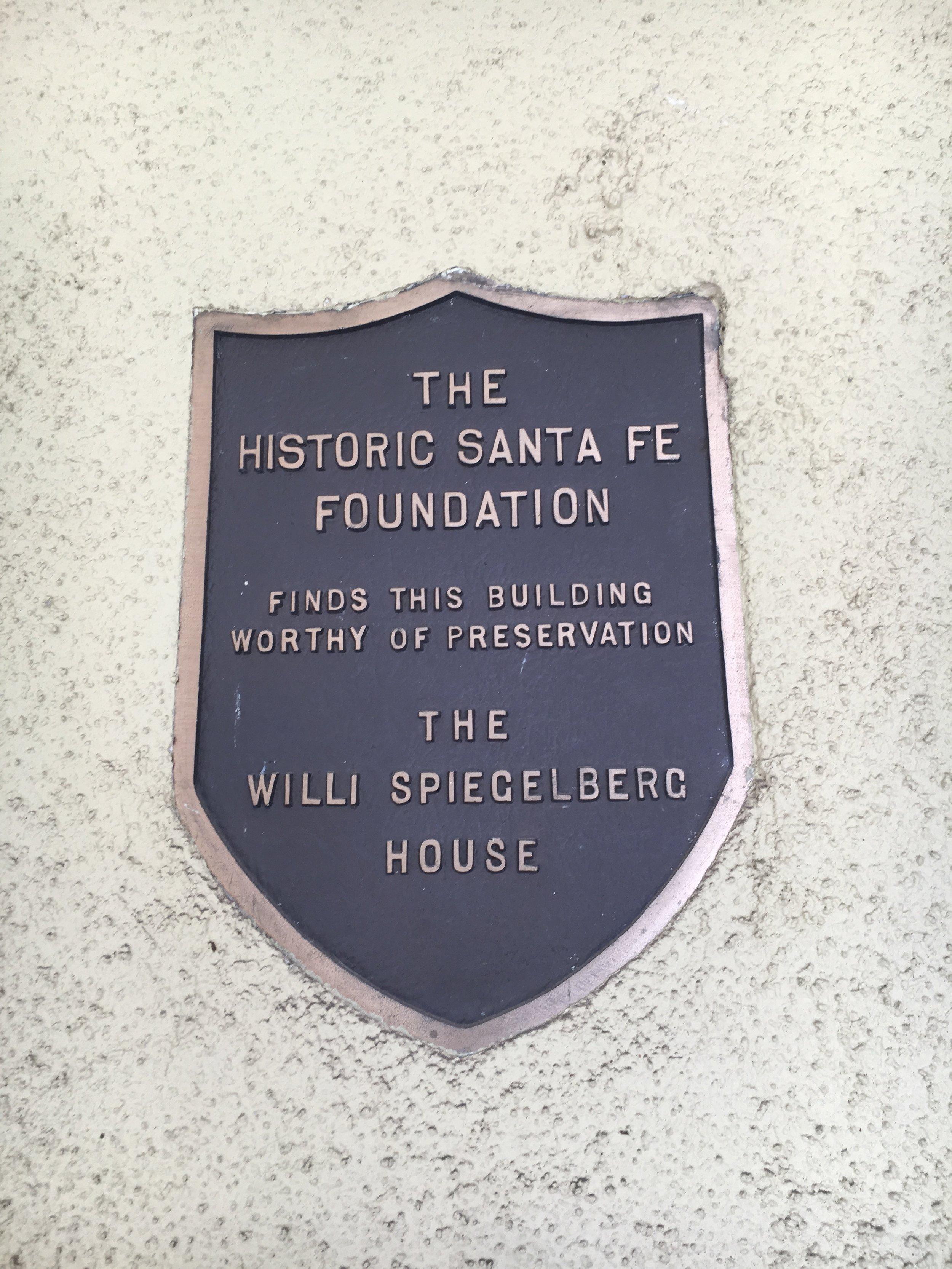 Willi Spiegelberg House, 237 East Palace Avenue.JPG