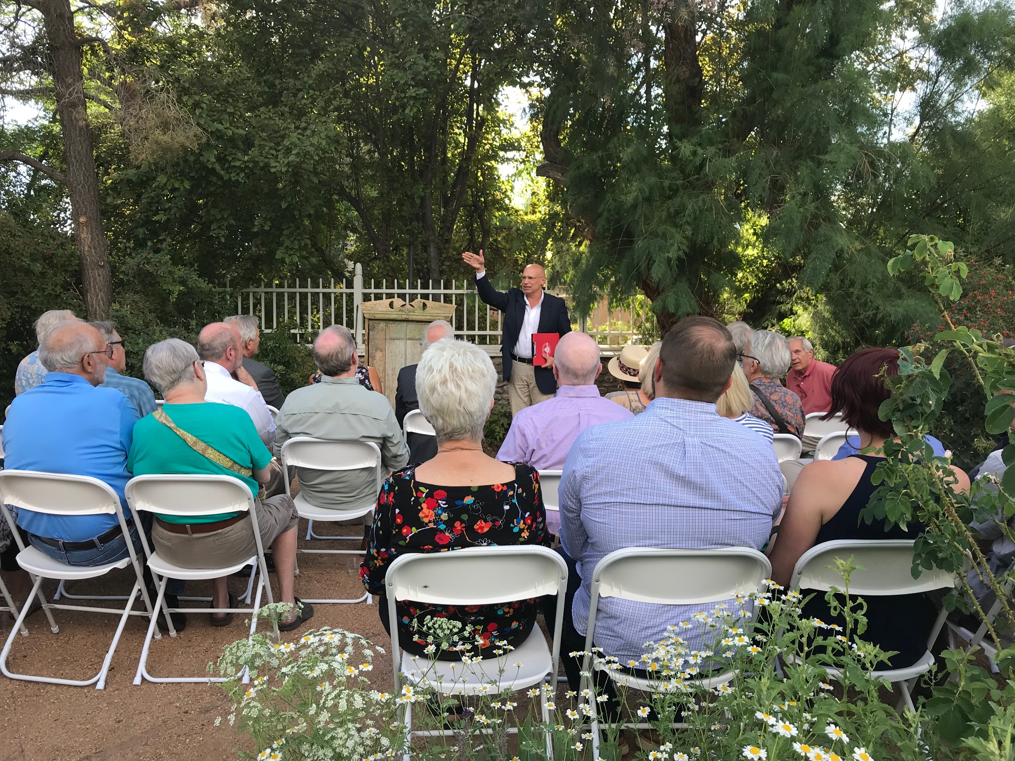 Image from the 2018 Garden Party & Members' Meeting with speaker Jeff Pappas