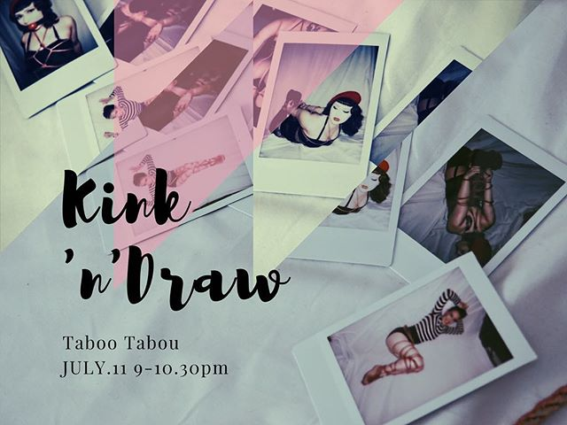Returning this summer #kinkndraw: Fetish figure drawing for the devious mind @tabootabou  Get tickets via my linktree in the bio! . . . . . . #chicagoart #chicagoartevents #tabootabou #figuredrawing #ropebondage #roleplay