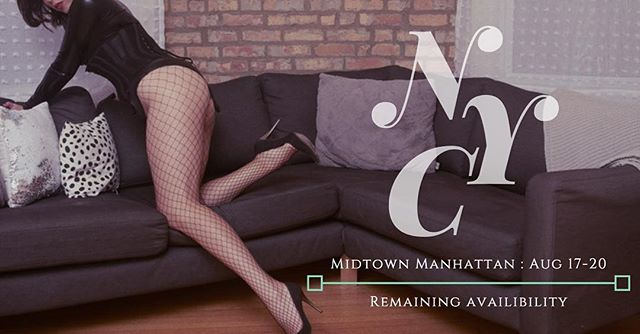 Limited availability for New York. One to two slots left. See twitter for schedule, link in bio.