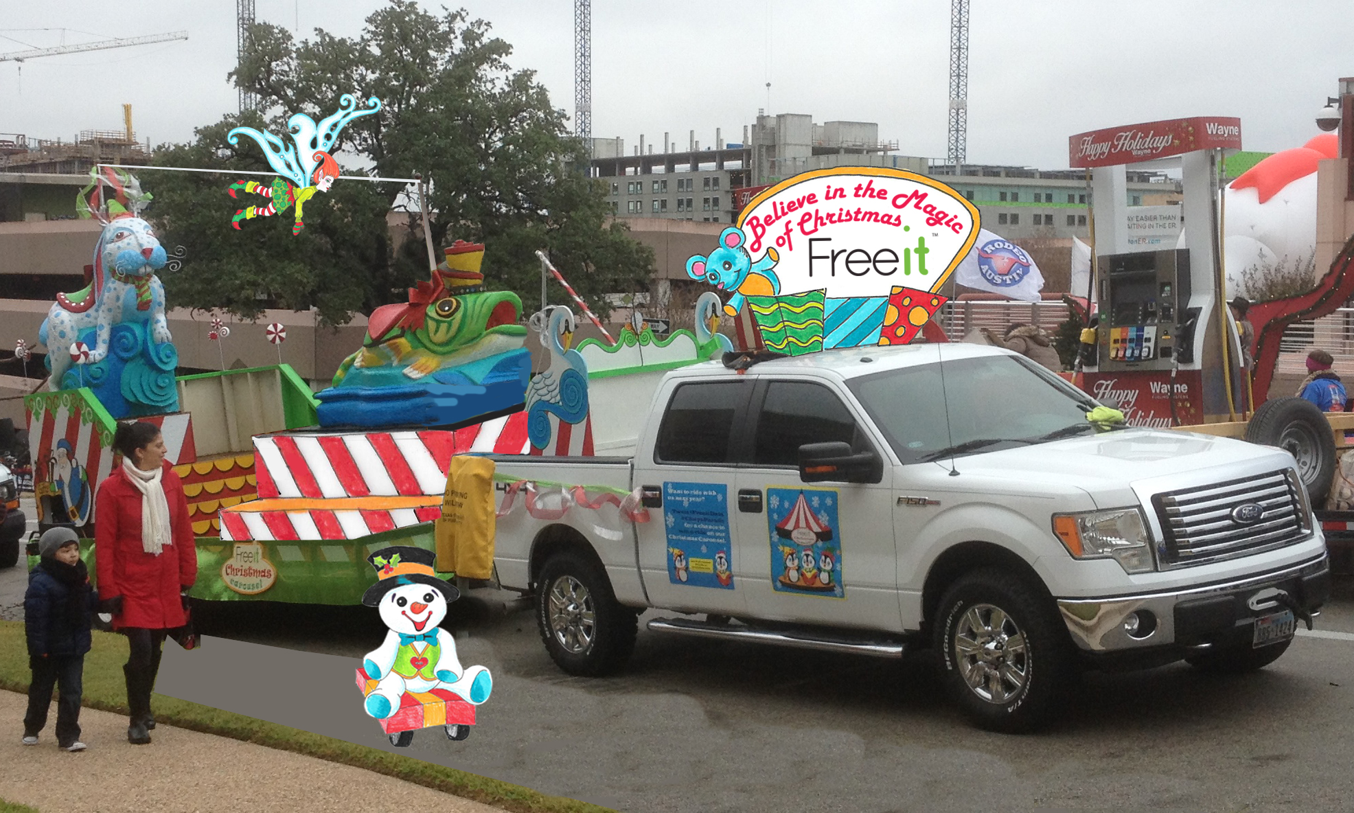 Rendering of the 2016 Freeit Christmas Float