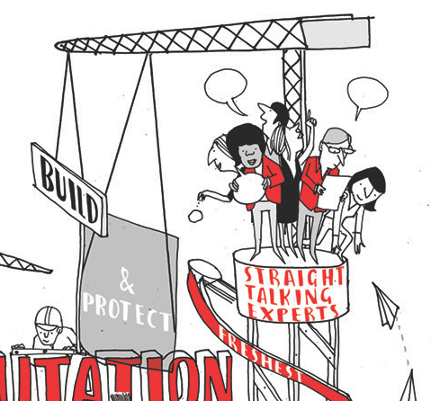 Rich picture illustrations for Fishburn Hedges   Scriberia