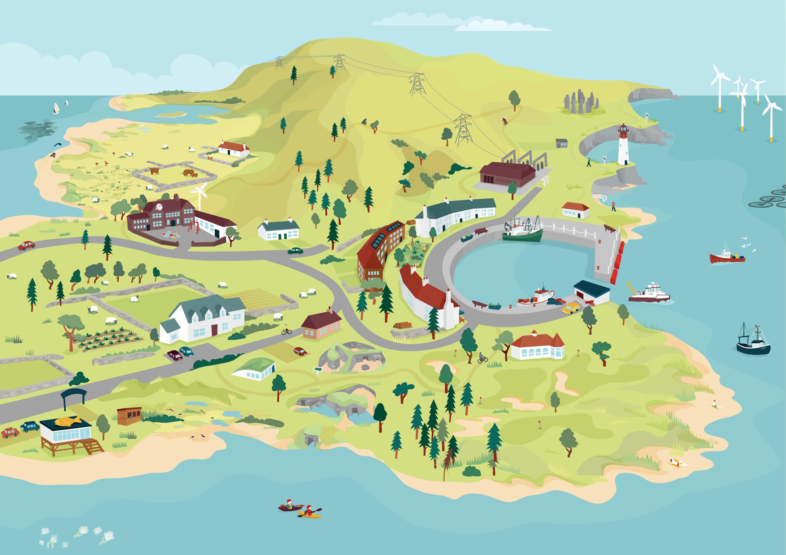 Rich picture illustrations for Adaptation Scotland | Scriberia