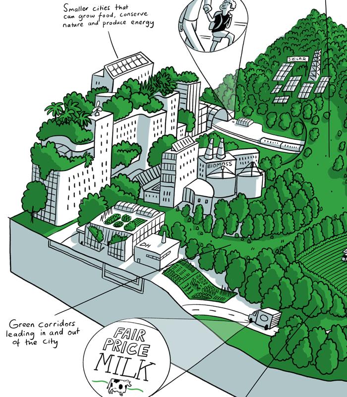 Rich picture illustrations for the University of Edinburgh's VOLANTE project   Scriberia