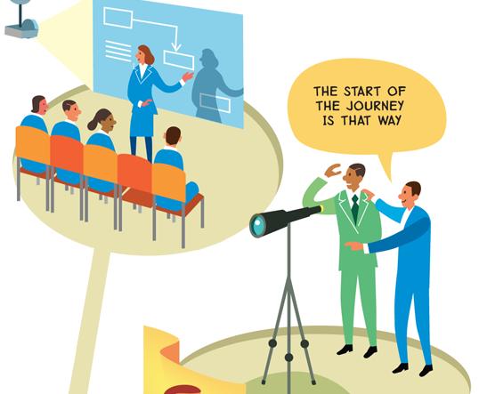 Rich picture illustrations for Deloitte's Graduate Pathway | Scriberia
