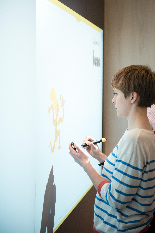 Digital scribing on Bene's Nice Wall, Clerkenwell Design Week | Scriberia