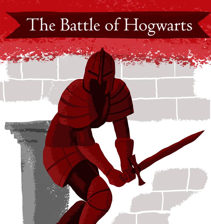 Scriberia illustration agency Battle of Hogwarts Pottermore