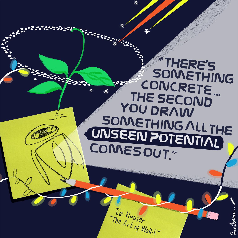 Scriberia hardworking illustration Hauser