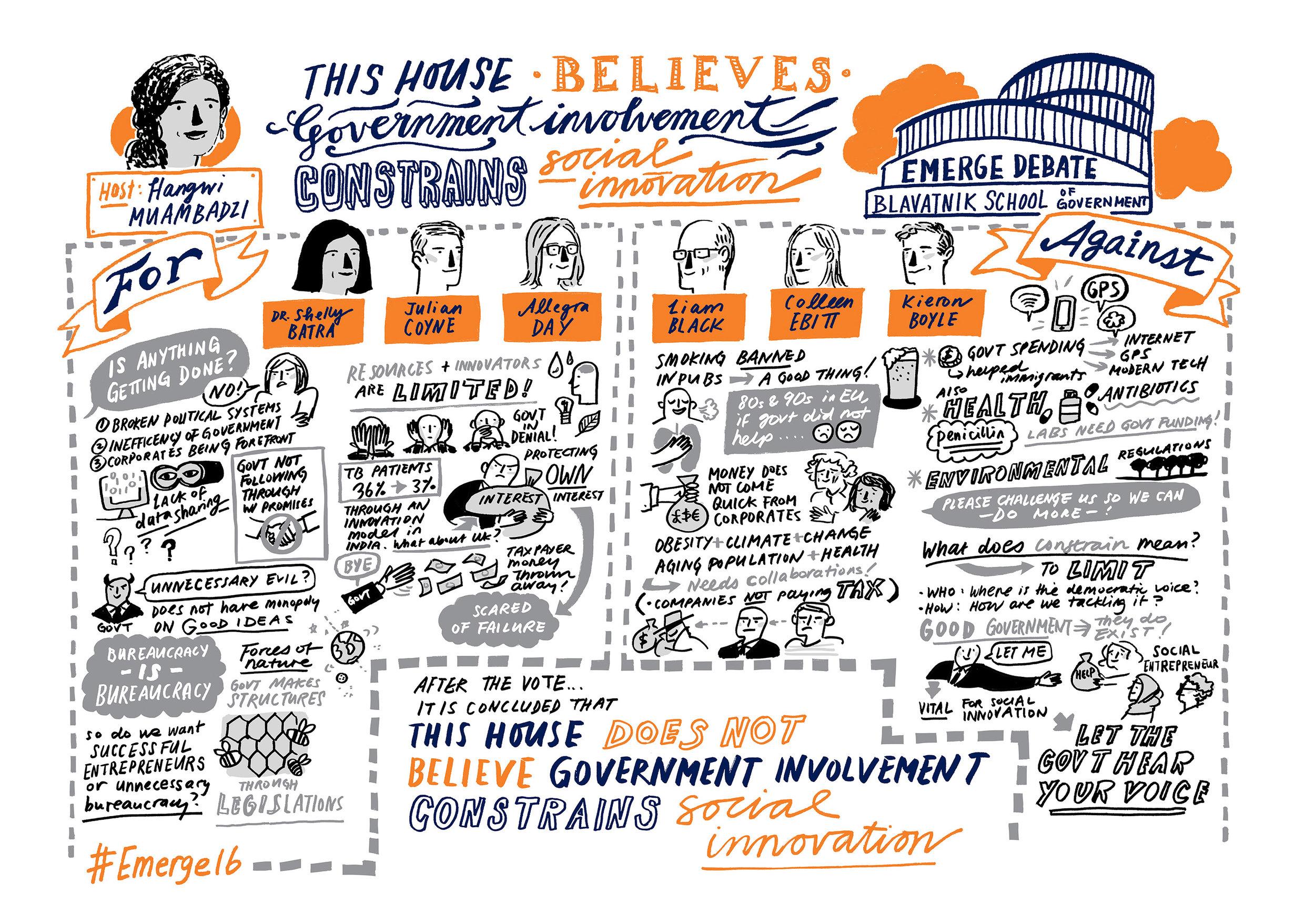 Sketchnotes from the 2016 Emerge Debate | Scriberia