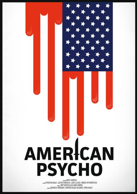 Scriberia Alternative Film Posters Thornley American Psycho