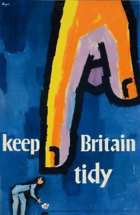 Scriberia Top 20th Century British Poster Designs Hans Unger Keep Britain Tidy