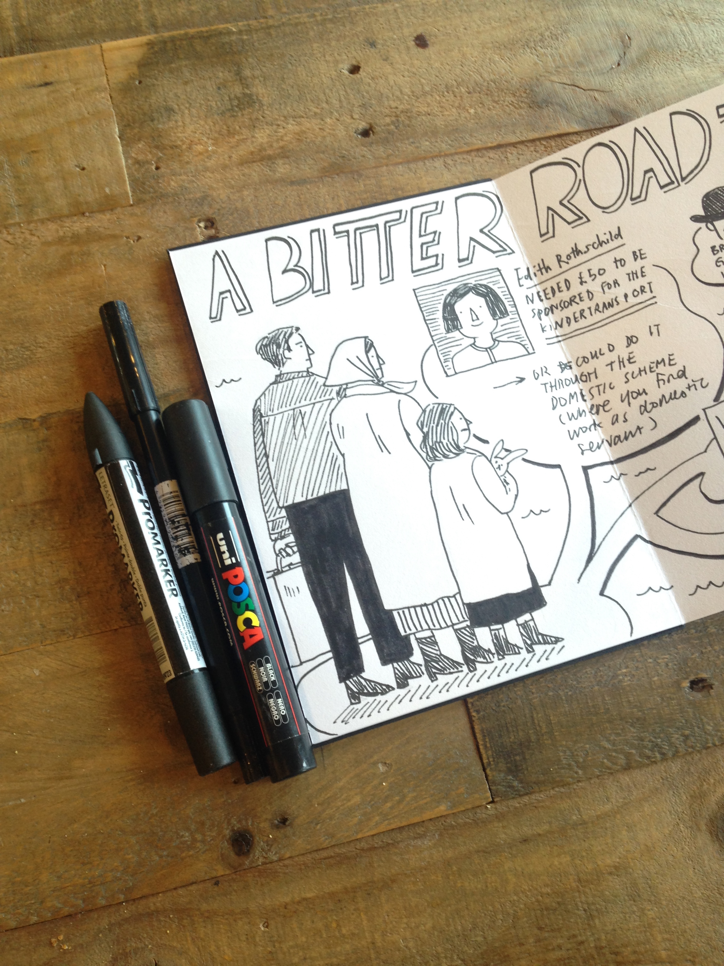Scriberia sketchnotes of A Bitter Road at The Weiner Library 2