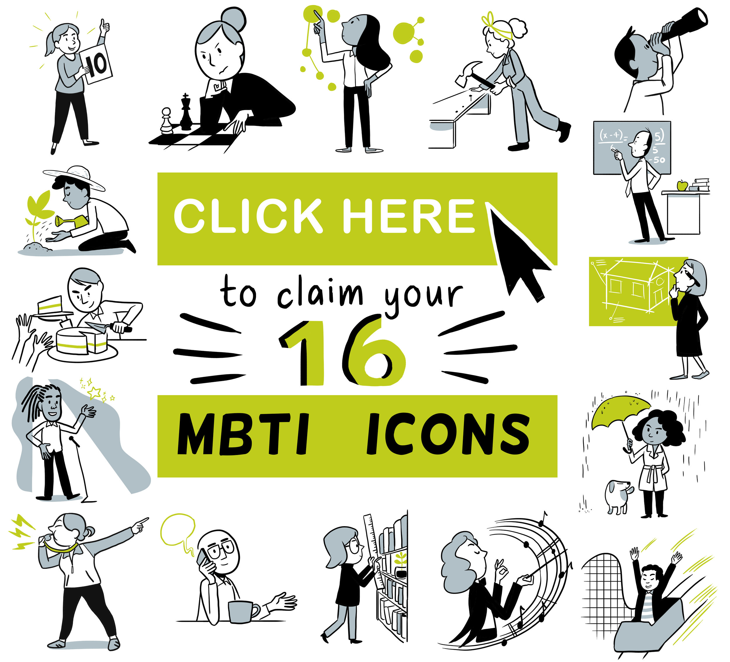 Myers Briggs Icons Download button