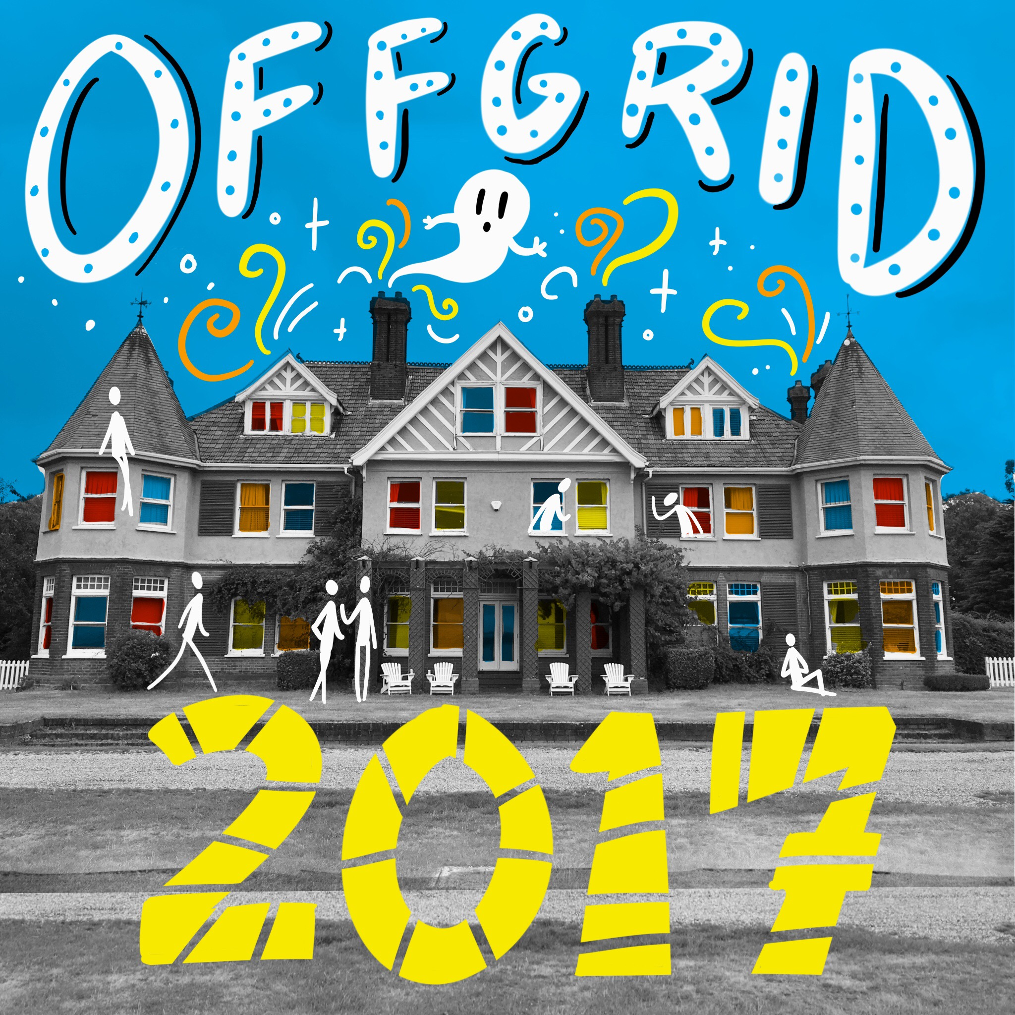 Scriberia OffGrid Sessions 2017 Osea Island Illustration Postcard