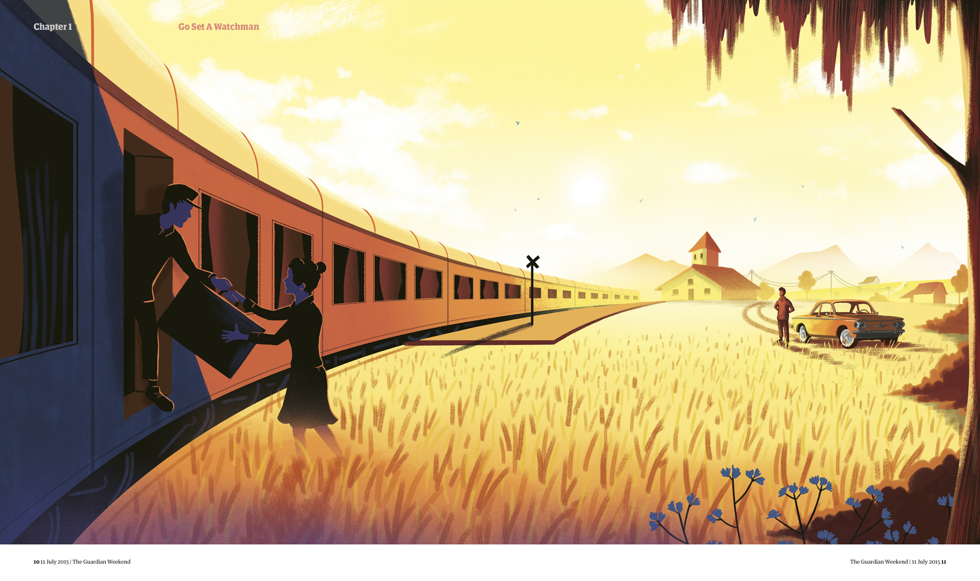 The Guardian's illustration for Harper Lee's Go Set A Watchman launch