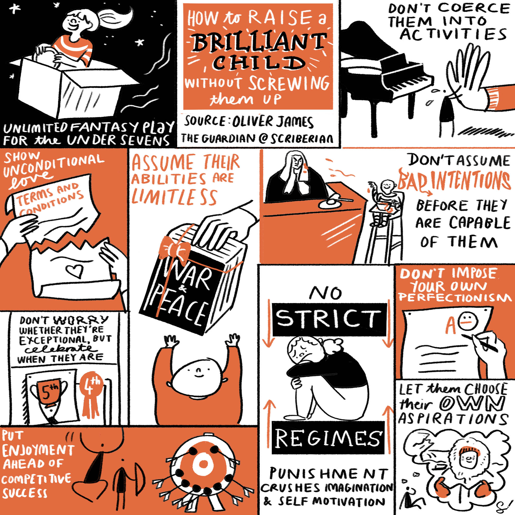 How to raise a brilliant child without screwing them up, by Oliver James. Source:  The Guardian