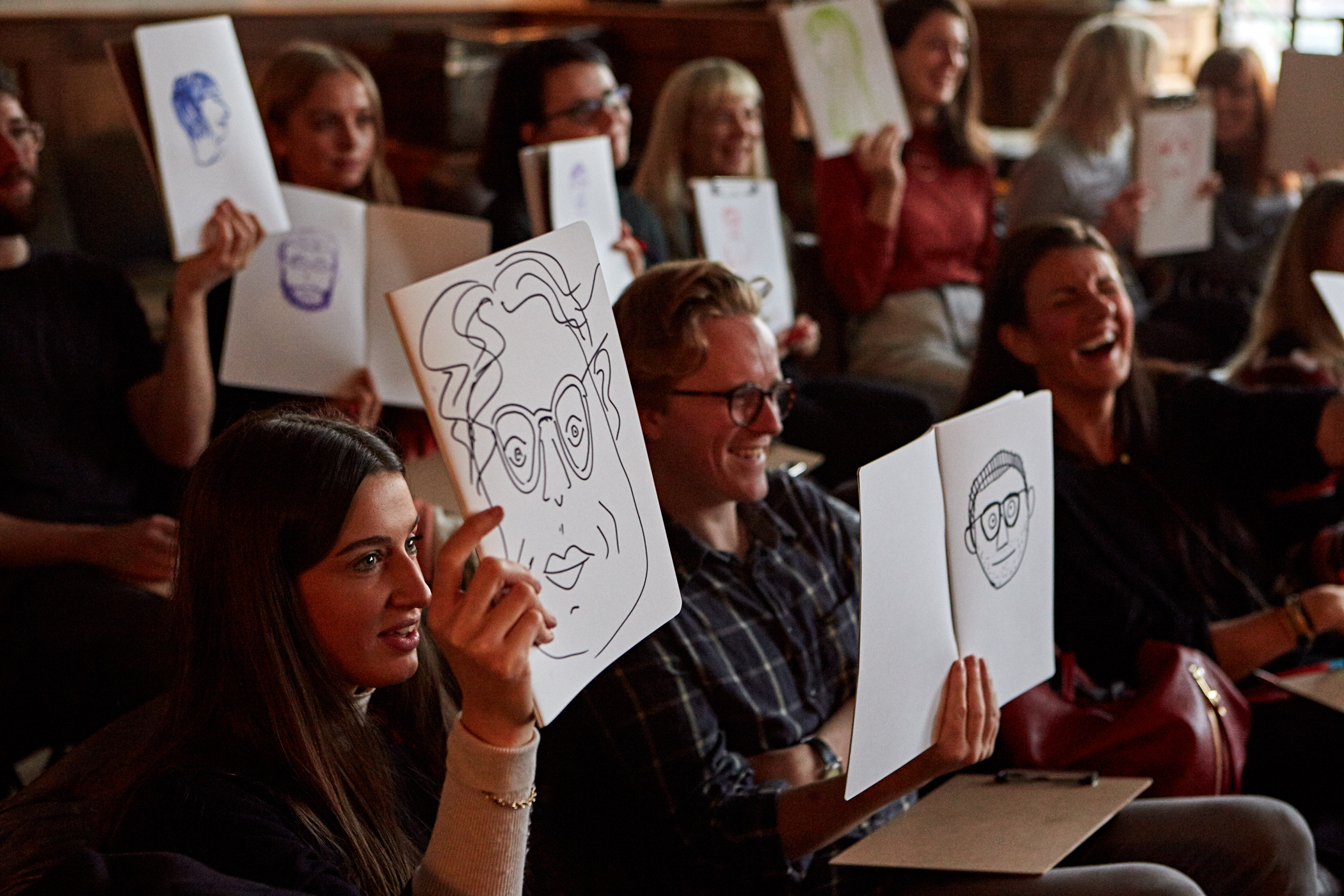 Serious fun at Scriberia's Wake Up And Draw Workshop