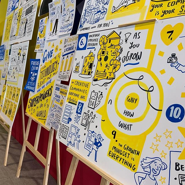 @cannes_lions you have been great! We've loved capturing all the empowering talks and meeting so many inspirational people. Our heads are literally swelling with all the new things we have learned!  #canneslions #younglions #graphicfacilitation #scribing #sketchnote #visualthinking #storytelling