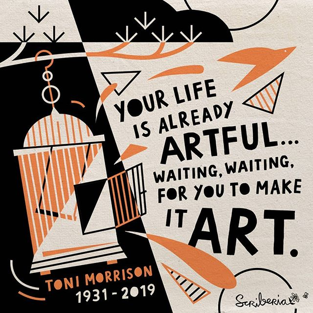 "As #ToniMorrison once said, ""Your life is already artful... Waiting, just waiting, for you to make it art."" #creativity can flourish in the most unexpected places, and from the driest material. It really is just a question of perspective. #art #visualthinking #creativeconfidence"