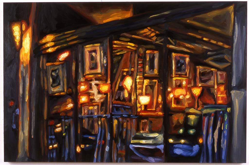 "Window on  First Avenue #3   , 24x36 "" oil on panel, 2004"