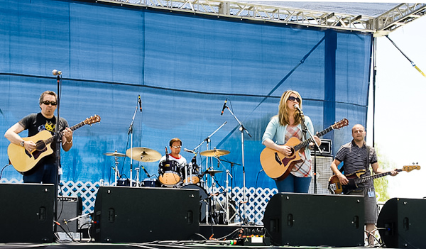 Brooke and her band at the Wine and Balloon Festival in Temecula