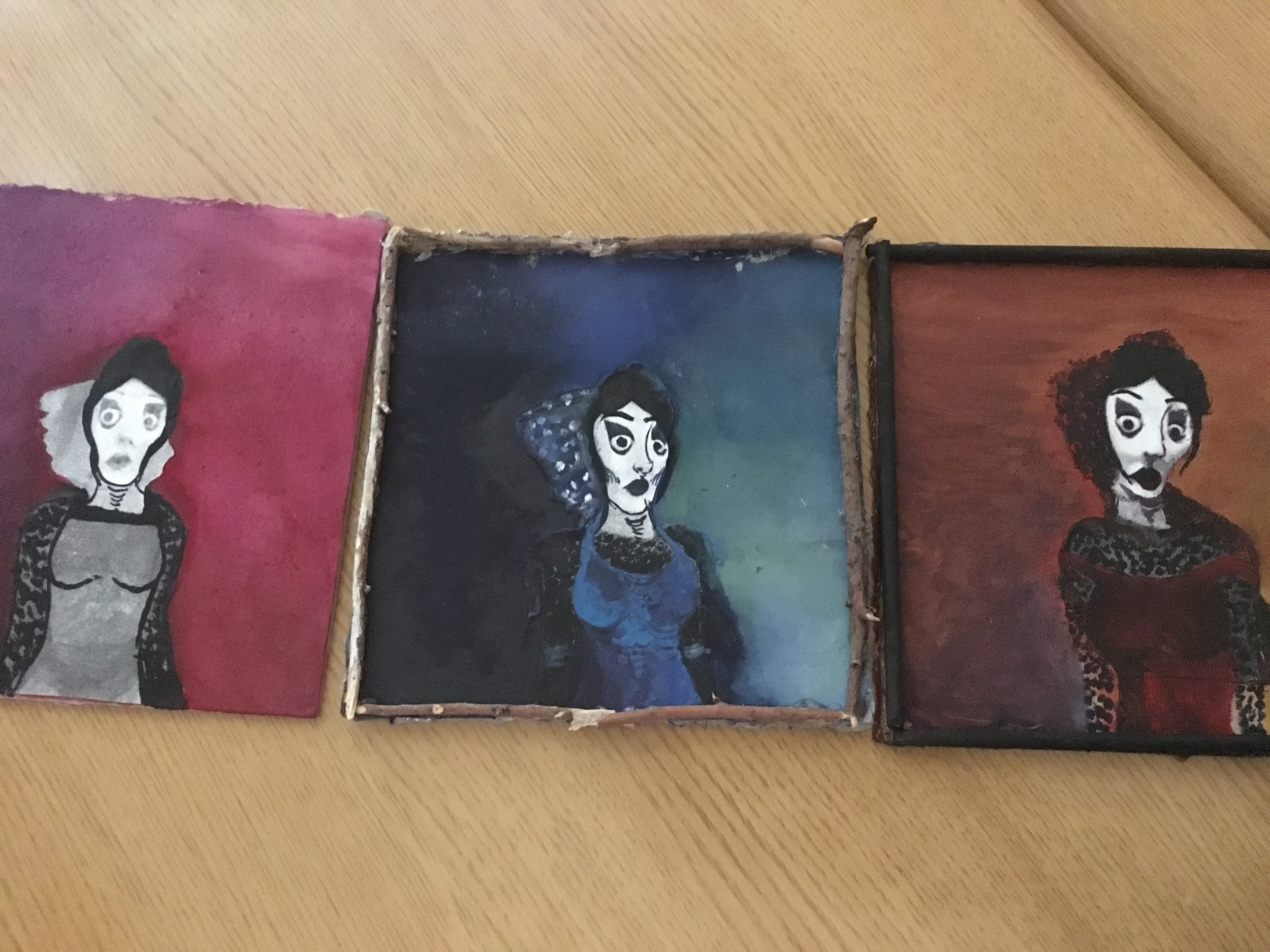 Early paintings of the stepmother by Simona Rael