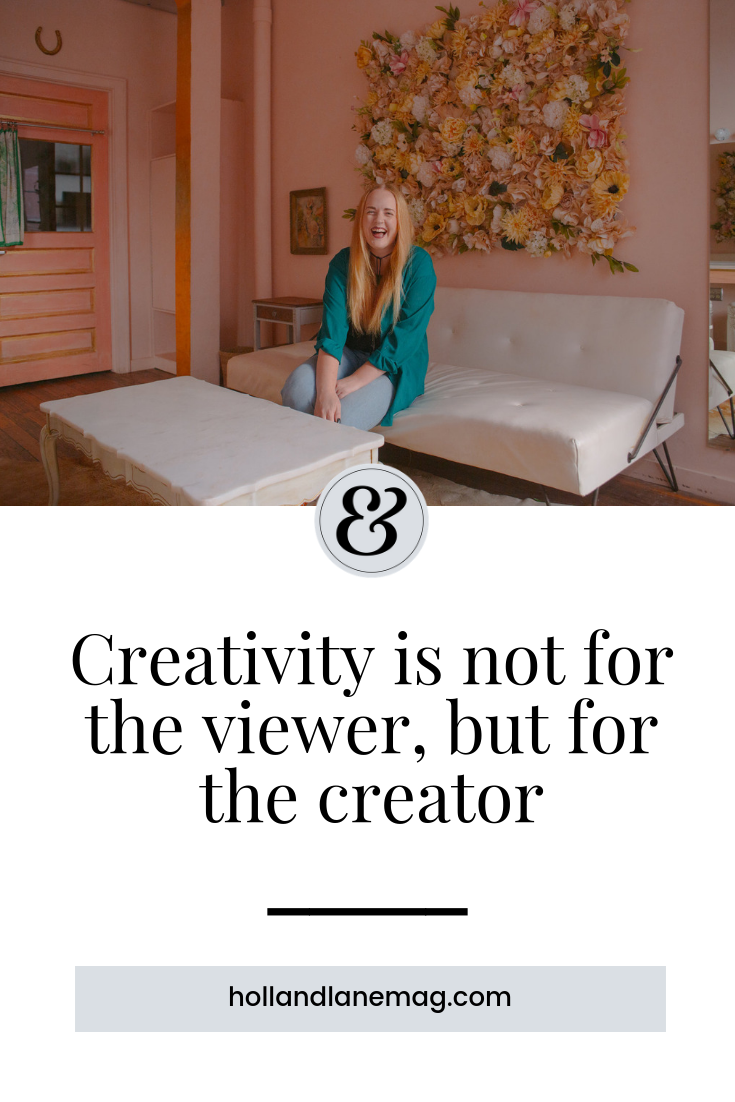 Any time we create from within, in a spirit of true sincerity, I believe something happens that no one can ever fully explain with words. Click to read more from Holl & Lane Magazine at hollandlanemag.com #creativity #writing #selflove