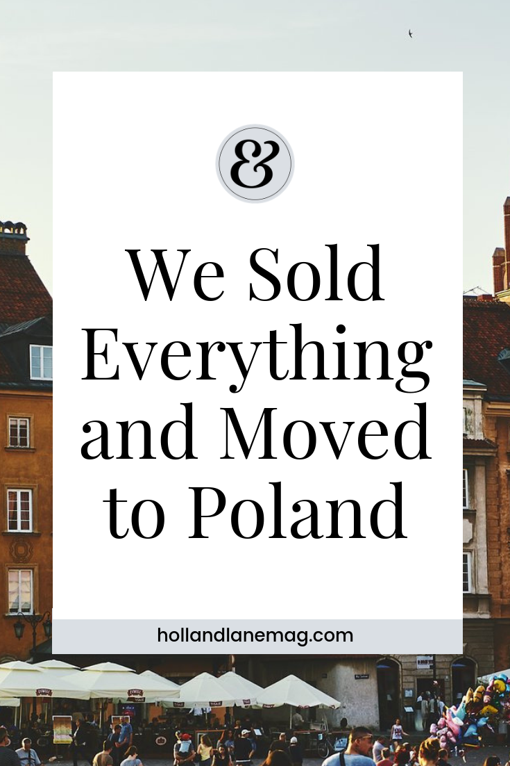 In a matter of months we sold our apartment and most of our stuff. Click to read more at hollandlanemag.com